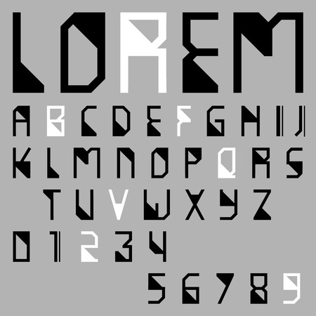 alphabetic: alphabetic font and numbers Illustration