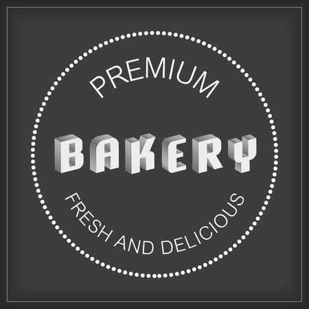 bakery shop: retro badge and labels