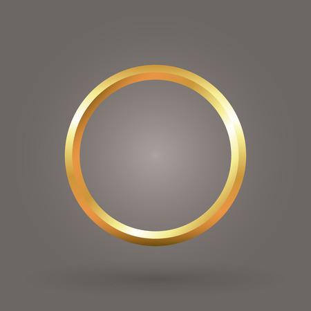 gold circle ring symbol