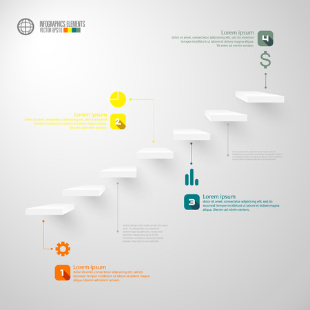 staircase: modern infographics template