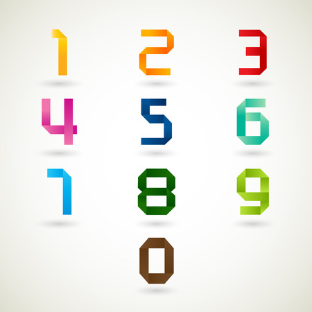 numbers abstract: number set design