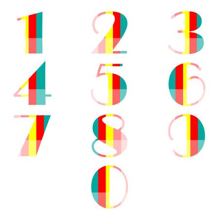 number set design Vector