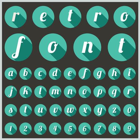 alfabetische lettertype en nummers Stock Illustratie