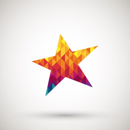 symbol with colorful diamond Vector