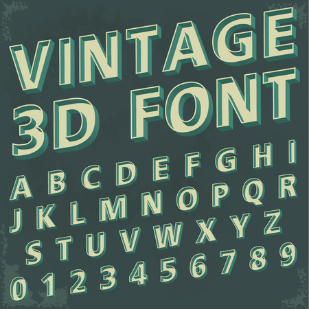 alphabetic font and numbers 일러스트