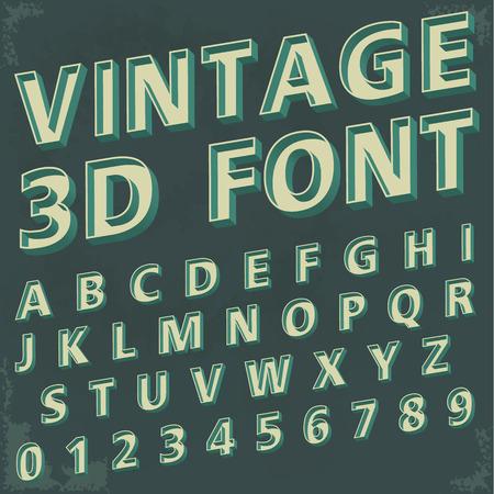 tipo de letra y los números alfabético Vectores