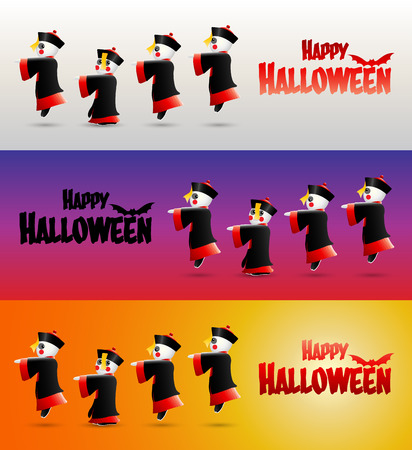Happy Halloween with Chinese zombies