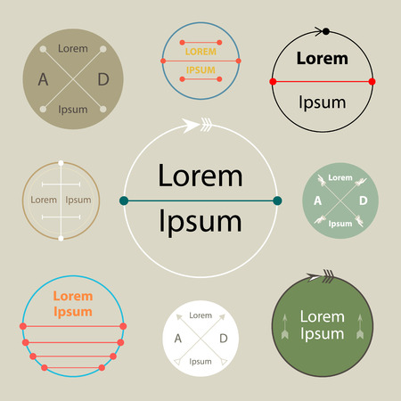 modern badge and labels Vector