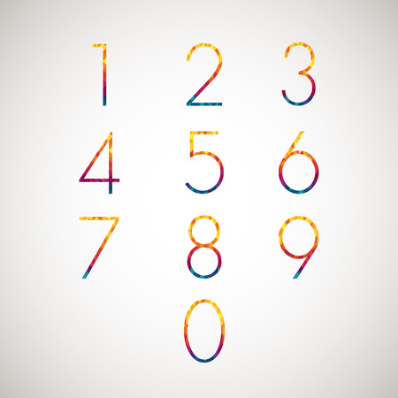 number set design Vector