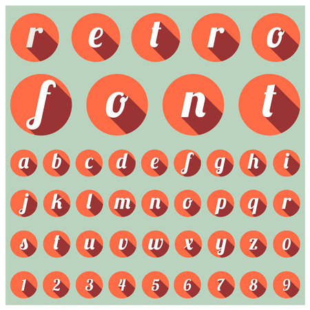alphabet kids: alphabetic font and numbers Illustration