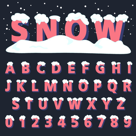 alphabetic font and numbers Ilustração