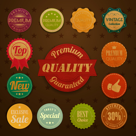 retro badge and labels Vector