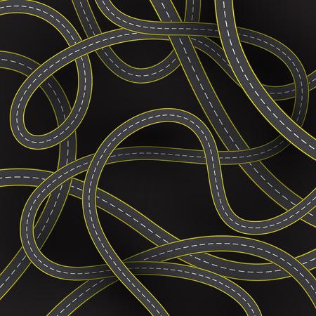 trajectoire: fond abstrait de la route Illustration