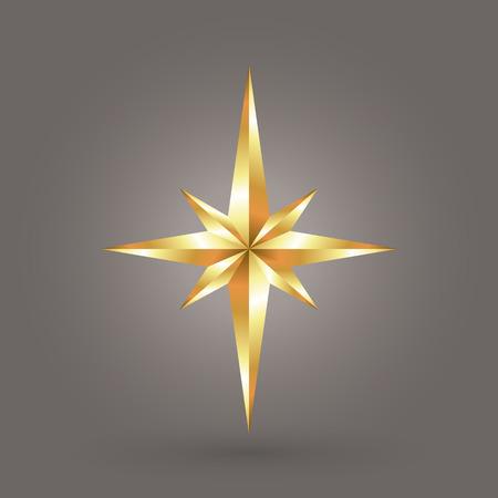 shinning: gold star Illustration