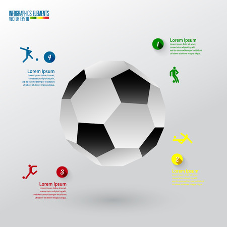 soccer infographics template Stock Vector - 27672981