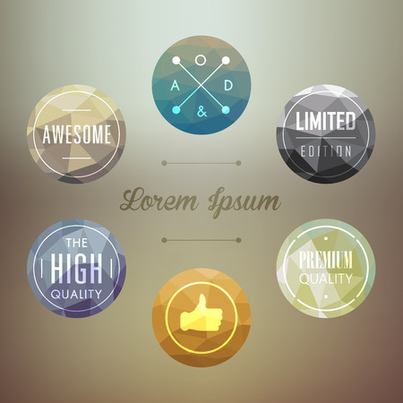 modern badge and labels