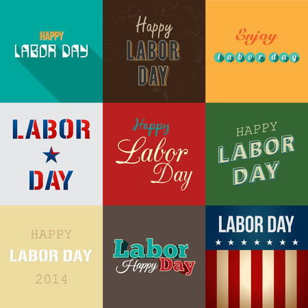 collection of labor day background Vector