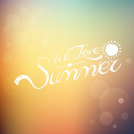 summer season: summer background