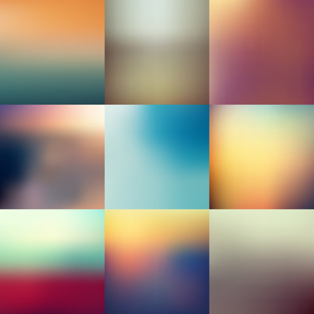 collection of blur background Vector