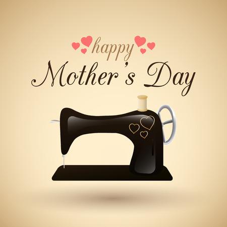 mummie: dag gelukkige moeder Stock Illustratie