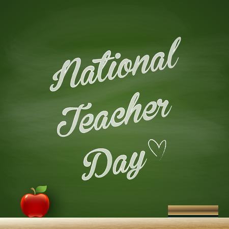 national teacher day Vector