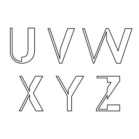 upper case: alphabetic fonts U V W X Y Z