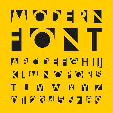 fonts: alphabetic fonts and numbers Illustration