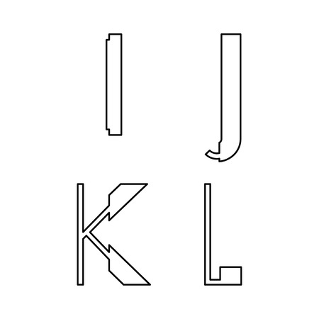 upper case: alphabetic fonts I J K L