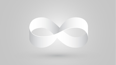 infinity sign with white color Vector