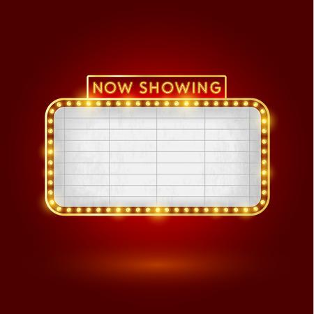 Plantilla retro signo del cine Foto de archivo - 28699452