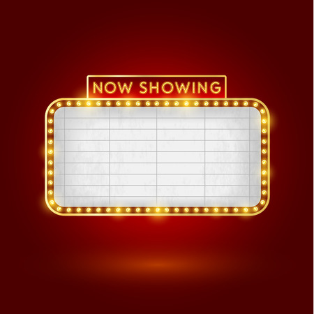retro cinema sign template Vector