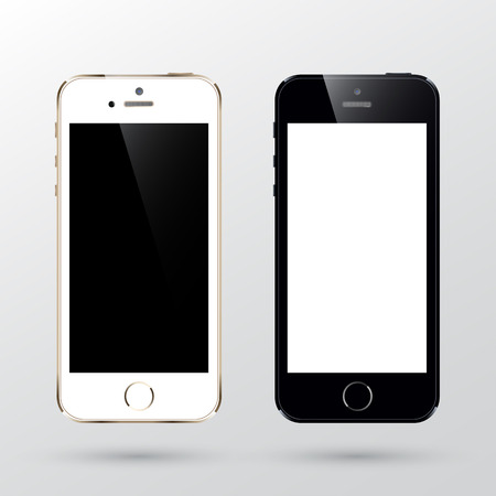 smartphone template with black and gold color