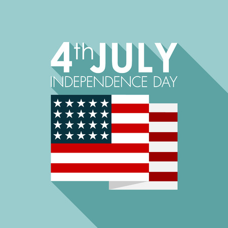 Happy independence day United States of America, 4th of July  Illustration