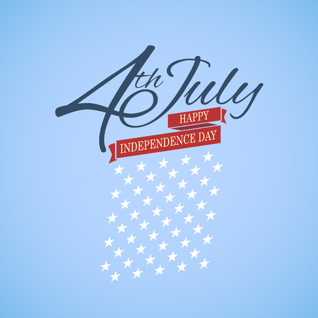 independent day: Happy independence day United States of America, 4th of July  Illustration
