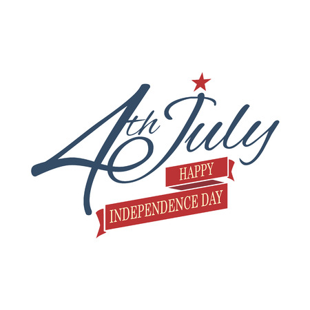 Happy independence day United States of America, 4th of July  Ilustração
