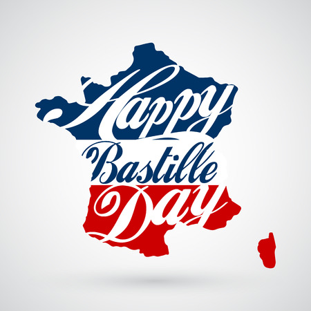 14th July Bastille Day background Vector