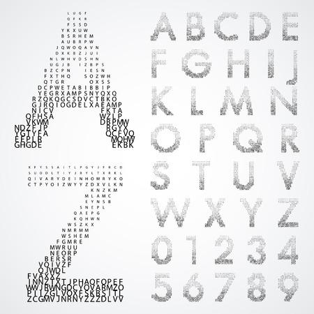alfabético: fontes alfab�ticos e n�meros
