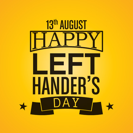 left hand: Happy Left-handers Day Background Illustration
