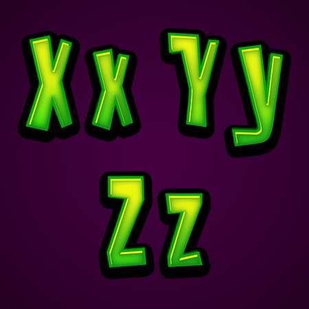 xyz: halloween modern font XYZ