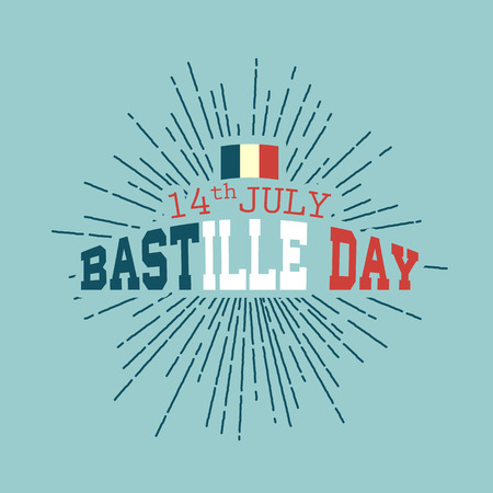 Happy Bastille day vector eps10 illustration