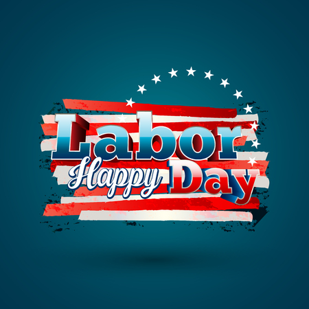 Happy Labor day vector eps10 illustration