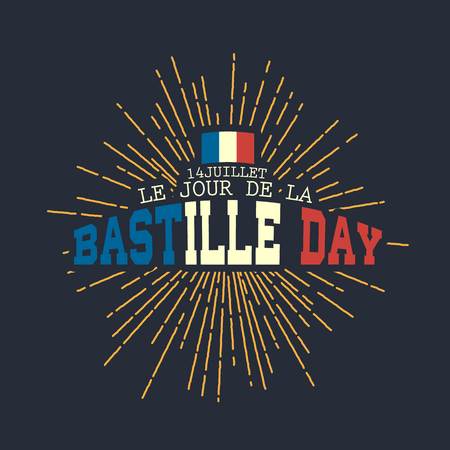 Happy Bastille day vector eps10 illustration