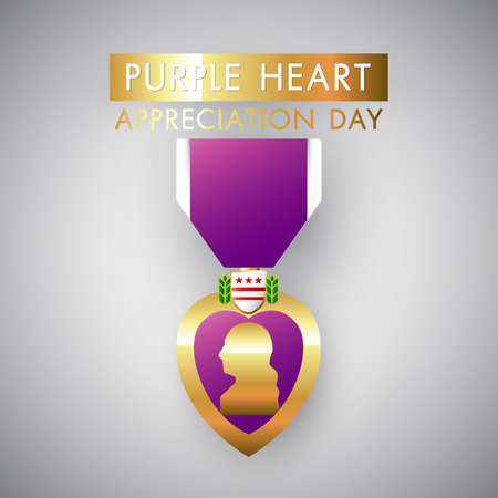 Purple Heart Day vector eps10 illustration
