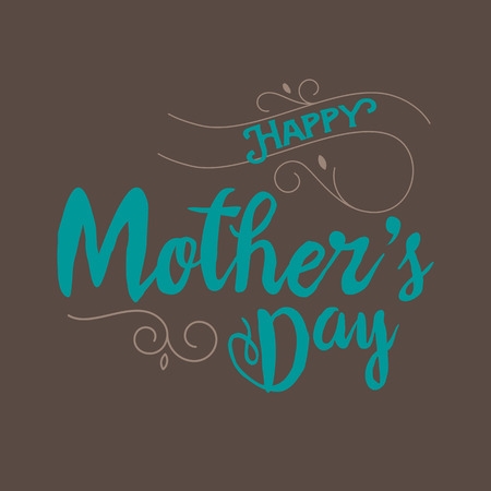 mother day: Happy Mothers day vector eps10 illustration