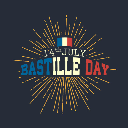 Happy Bastille day vector eps10 illustration Vector Illustration