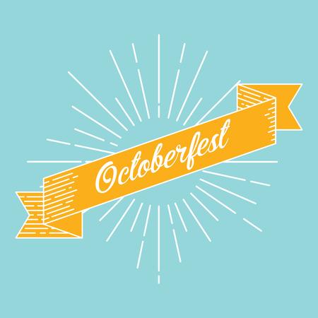 cereal bar: Octoberfest background vector eps10 illustration Illustration