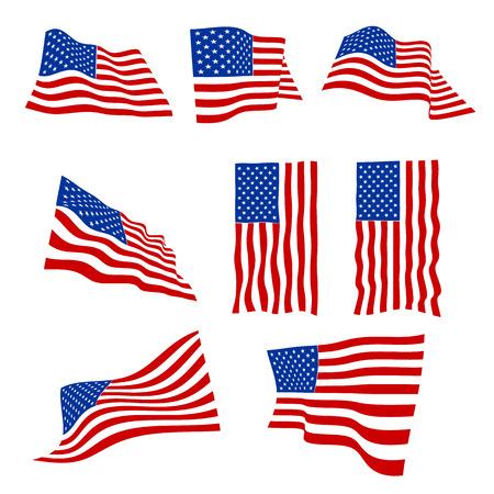banderas america: EE.UU. banderas ilustración vectorial eps10