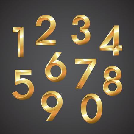 numbers: Numbers vector eps10 illustration Illustration