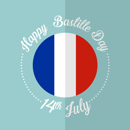 the bastille: Happy Bastille day vector eps10 illustration