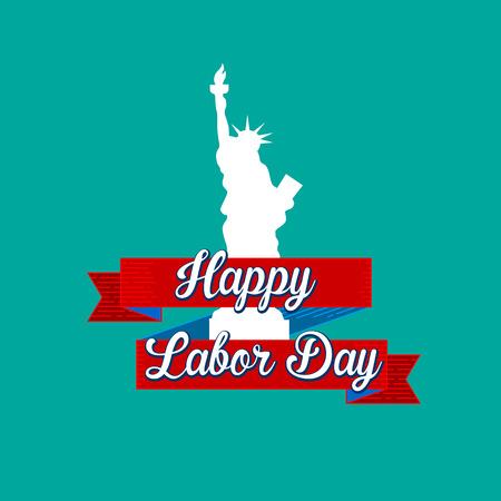 Happy Labor Day vector eps10 illustration Illustration